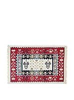 Tapis a Porter Alfombra Doubleface Murad Rojo/Marfil/Multicolor 100 x 200 cm