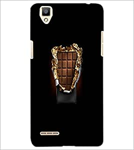 PrintDhaba Chocholate D-5567 Back Case Cover for OPPO F1 (Multi-Coloured)
