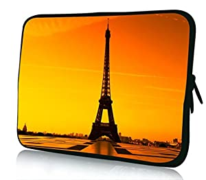 10 inch Rikki KnightTM Eiffel Tower Design Laptop sleeve - Ideal for iPad 2,3,4, iPad Air, Galaxy Note, Small Notebooks and other Tablets