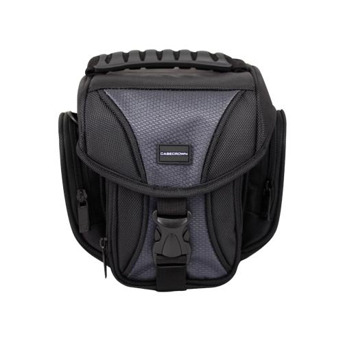 CaseCrown Red Easy Carry DSLR Case and Shoulder Sling Bag for the Nikon D90 Digital SLR Camera Carrying