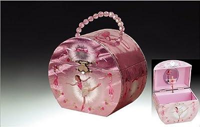 Ballerina Handbag Music Jewelry Box - Silver & Pink by Broadway