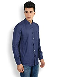 Easies_Men-Navy Blue-Slim Fit-Shirts