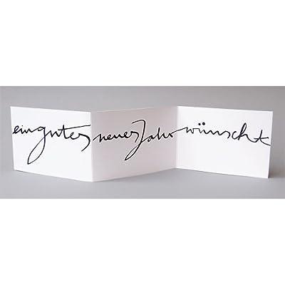 Neujahrskarte, Stefanie Jordan: ein gutes neues Jahr wünscht, Leporello inkl. weißem gefüttertem Umschlag DIN C6