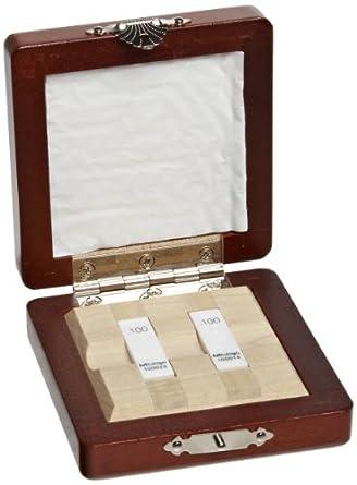 Mitutoyo Ceramic Rectangular Wear Gage Block Set, ASME Grade AS-1, Inch