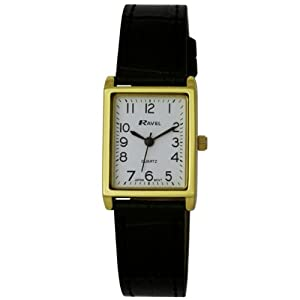 Ladies/Womens Classic White/Gold Rectangular Watch- 15 ...