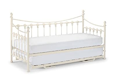 Happy Beds Versailles Daybed White Metal With Underbed Trundle 2x Mattress New