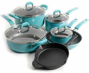 Pioneer Woman 10-Pcs. Vintage Speckle Cookware Set