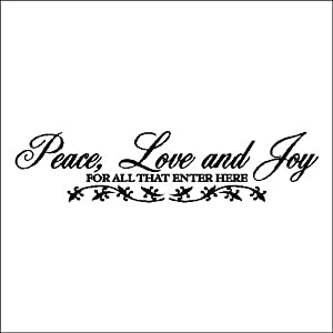 Peace Love And Joy....Entryway Family Wall Words Quotes
