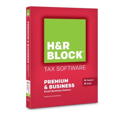 H&R Block Tax Software Premium & Business 2015 Federal+State