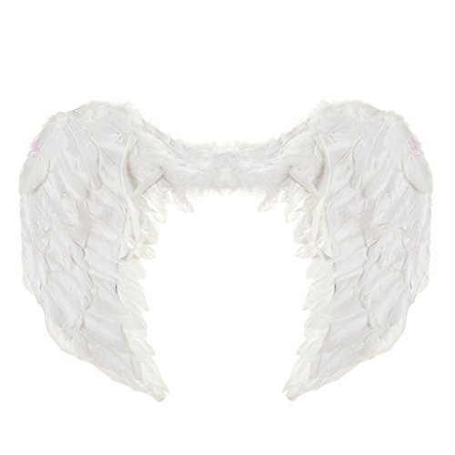 60*45cm Feather Angel Wings for Christmas/Halloween- White/ Black/ Red