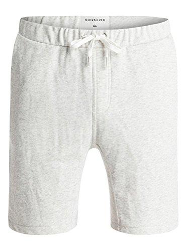 Quiksilver Men's Everyday Fonic Fleece Short, Light Grey Heather, Small Quiksilver Casual Shorts