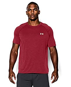 Under Armour Men's UA TechTM Short Sleeve T-Shirt, Crimson/White, Large