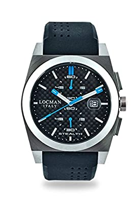 Locman Men`s 020200CBFSK1GOK Stealth Stainless Chrono