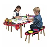 Alex Super Art Table with Paper Roll and Two Benches