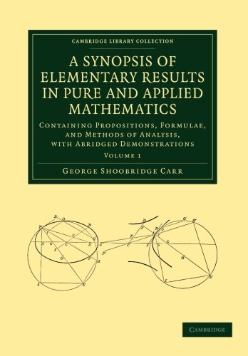 Image result for A Synopsis of Elementary Results in Pure and Applied Mathematics