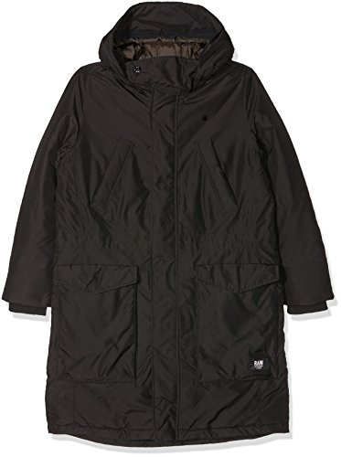 G-STAR RAW Expedic Hooded Parka Wmn, Giacca Donna, Nero (Black 990), Large