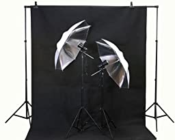 ePhoto Studio Flash Lighting Backdrop Stand & Muslin Kit by ePhoto INC T45