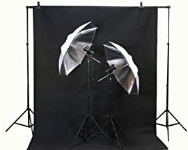 ePhoto Studio Flash Lighting Backdrop Stand & Muslin Kit by ePhoto INC T45