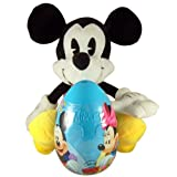 Easter Basket Filler Mickey Mouse Stuffed Animal with Candy and Toy Filled Plastic Egg by Needzo Inc