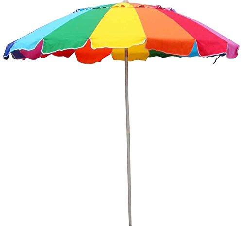 Beach Umbrella Rainbow Includes Carry Bag 8 Foot Rainbow