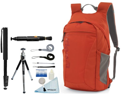 Lowepro Photo Hatchback 22L Aw Camera / Tablet Backpack (Pepper Red) And Accessory Kit For Canon Eos Rebel T5, T5I, T3, T3I, T4, T4I, T2I, T1I, Eos 1D Mark Iii, 1D Mark Iv, 1Ds Mark Ii, Sl1, 5D, 7D, 20D, 30D, 40D, 50D, 60D, 70D, Xs, Xsi, Xti D-Slr Cameras