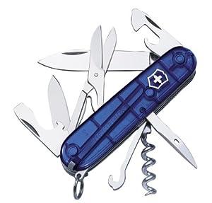 Victorinox 1.3703.T2 Couteau 10 P Bleu Translucide
