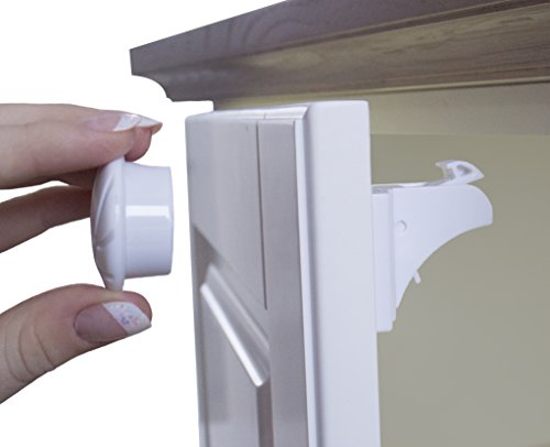 8 Magnetic Baby Safety Locks Suitable for Cabinets and Drawers to Childproof Your Home. No Tools or Screws Needed - Thanks to 3M Adhesive