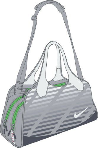 SAMI 3.0 LARGE CLUB BAG WOLF GREY/GRN APPLE/
