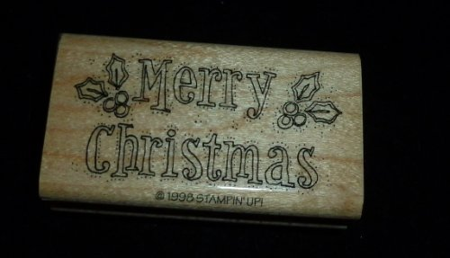 Merry Christmas Rubber Stamp - 1