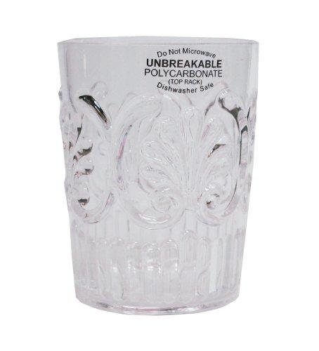 Le Cadeaux Clear Polycarbonate Water Glasses, Set Of 4
