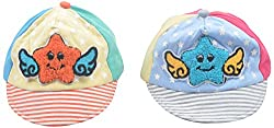 Kandyfloss Babies Caps - Pack of 2 Caps (MRHKFCAPS01, Multi-Colored, 3-6 Months)