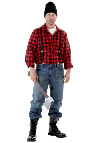 [Plus Adult Lumberjack (2X)] (Mens Lumberjack Costumes)