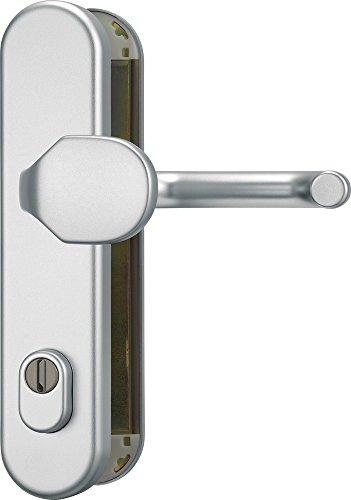 ABUS HLZS814 F1 EK Schutzbeschlag mit Zylinderschutz rund, aluminium, 374043