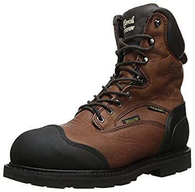 Chippewa Men's 8 Inch Waterproof Insulated Comp Toe Lace-Up Utility Boot,Brown,7 M US