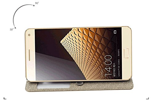 lowest price a951b ac0af TARKAN Pudini Premium Luxury Hard Slim Window Slim Flip Cover Case with  Convertible Back Stand For Lenovo Vibe P1