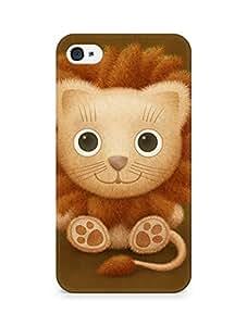 Amez designer printed 3d premium high quality back case cover for Apple iPhone 4s (Vladstudio Lion)