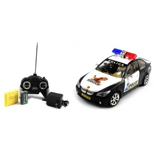Electric Full Function 1:18 BMW Police Stretch RTR RC Car Remote Control w/ Rechargeable Batteries