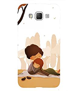 Fuson Premium Back Case Cover Lovely hug With Yellow Background Degined For Samsung Galaxy Grand 3 G720::Samsung Galaxy Grand Max G720