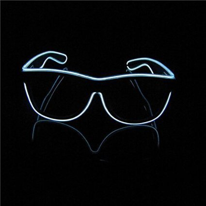 BLISS - Light Up El Wire Sunglasses (White)