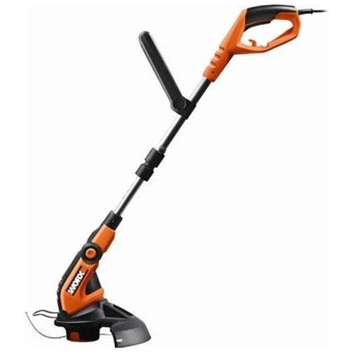 Positec Wg108 12-Inch 4.0 Amp Electric Grass Trimmer With Telescopic Shaft And Pivoting Edger Head