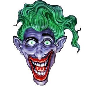 "Amazon.com: 8"" Printed smiling joker face green hair color"