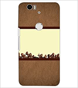 PrintDhaba Coffee Beans D-4320 Back Case Cover for HUAWEI NEXUS 6P (Multi-Coloured)