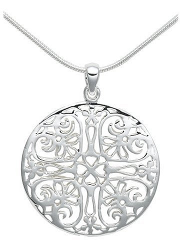 Imagen de Sterling Silver Pendant Circle Filigrana, 18