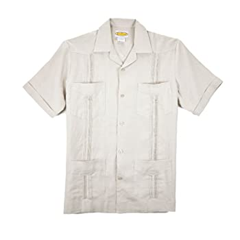 Natural-Pleated Guayabera - Traditonal Pleating
