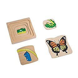 Montessori Materials Butterfly Development Puzzle for Early Preschool Learning Toy