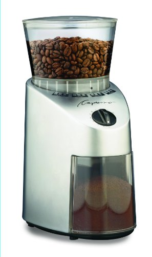 Capresso 560 Infinity Conical Burr Grinder, Brushed Silver