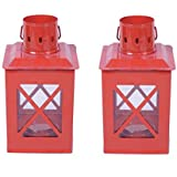 Sutra Decor Tealight Hut Candle Holder Lantern Set Of 2 - B01DGQZU36