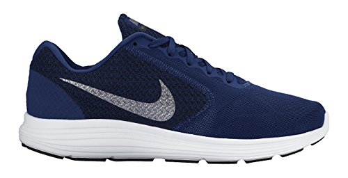 Nike Revolution 3 Scarpe da ginnastica, Uomo, Bleu (Deep Royal Blue/Metallic Cool Grey/Black/White 400), 43