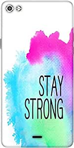 Snoogg Stay Strong Designer Protective Back Case Cover For Micromax Canvas Silver 5 Q450