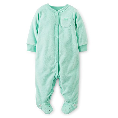 Carters Girls Baby Mouse Snap Up Sleep & Play 3 Mo Mint Green